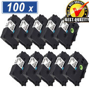 100x Compatible Tze-231 Tze231 Label Maker Tape For Brother P-touch Pt-d210 12mm