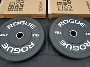 Rogue Rubber Bumper Plates 45 Lb Pair- Brand New Olympic Barbell Weight Plates