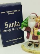 Santa Through The Years 1920 Old St. Nick Santa Porcelain. Hand Painted 4 Tall