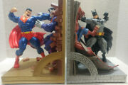 Superman And Barman Deluxe Bookends Dc Direct Very Rare 414 Of 750