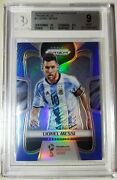 2018 Panini Blue Prizm World Cup Soccer 1 Lionel Messi Argentina Bgs 9