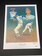 Don Drysdale Signed Christopher Paluso 18x24 Dodgers Lithograph 116/465 Psa