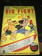 Benny Beaver Big Fight Boxing Ring - Tippy Toy Cardboard Punch Out 1940s