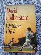 David Halberstam And039 October 1964 And039 Book Autographed By 25 Baseball Players