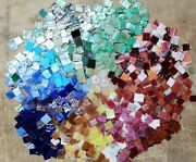 350 Colorful Hand Cut Stained Glass Mosaic Tiles. Buy 2 Orders Shipping Is Free