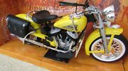 Newray 1948 Indian Motorcycle Yellow 16 Scale Die Cast Cruiser In Original Box