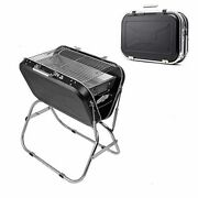 Charcoal Grill Set Portable Folding Bbq 304 Stainless Steel Camping Barbecue Coo