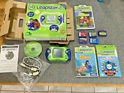 Leapster 2 Leap Frog Green System Bundle W/ 9 Games, Case, Instructions. Tested