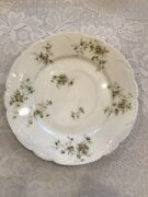 Theodore Haviland Limoge France Floral And White Dinner Plate 10 Inches Diameter