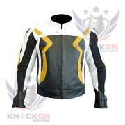 Motorcycle Clothing Store. Yellow Bmw 3875 Cowhide Leather Jacket Armoured Coat