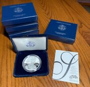 2007-w One Ounce Proof Silver American Eagle W/box And Certificate Of Authenticity