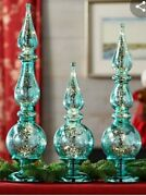 Set Of 3 Illuminated Shatterproof Finials By Valerie Silver Large Qvc 34