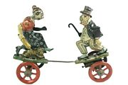 Antique 1924 Tin Wind-up Maggie And Jiggs Comic Character Toy