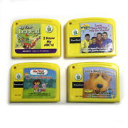 Leap Frog Game Cartridges Lot Of 4 My First Leap Pad The Wiggles Dora Explorer