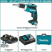 Makita Xsf03r 18v Lxt Lithium-ion Compact Brushless Cordless Drywall Screwdriver