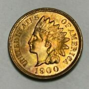 1900 Indian Head - Red Gem++ Superb - Very High Grade - Free Insured Shipping