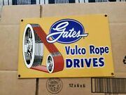 Porcelain Signs Gas Oil Vintage Gates Vulco Rope Drives