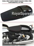 New Royal Enfield Touring Dual Seat And Black Magic Cowl Continental Gt 650