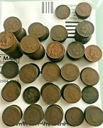187 Piece Lot Of Indian Head Pennies Mixed Dates From 1880 To 1909last Date