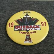 1997 Outback Bowl Michigan Wolverines And Alabama Crimson Tide Football Button