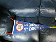 1963 La Dodgers Vs New York Yankees World Series Pennant