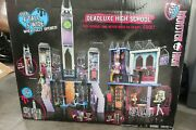 Monster High Deadluxe High School Playset Spooky Haunted Horror Doll House New