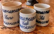 French Antique Pot Canisters Confit French Stoneware Kitchen Glazed Pottery