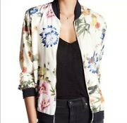 119 Bagatelle Collection Floral Bomber Jacket Women's Size S