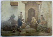 Jules Worms Une Vocation Antique Oil On Panel For Restoration 7´´ X 10´´