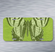 Butterfly Green Scrapbook Page On License Plate Car Front Auto Tag