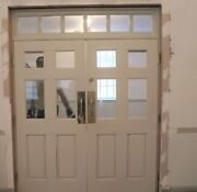 Double Doors, 74 X 97, With Transom, Solid Wood, Georgia Church Salvage