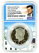 2021 S Kennedy Clad Half Ngc Pf70 Ultra Cameo - Early Releases White House Core