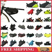Mtb Bicycle Cycling Triangle Storage Bag Road Bike Front Tube Frame Bags Pouch