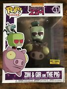 Funko Pop Invader Zim And Gir On The Pig