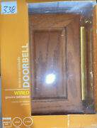 Heath Zenith Wired Doorbell Chime Classic Decor Series Cherry Wood Dw-48