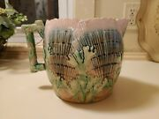 Etruscan Majolica Shell And Seaweed Pitcher