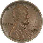 1928 D Lincoln Wheat Cent About Uncirculated Penny Au