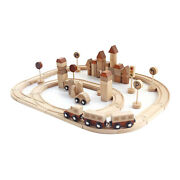Wooden Train Tracks Set For Toddler 345 Years Old And Up Construction Toys