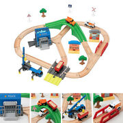 36pcs/set Wooden Train Track Building Toy Set Rc Road Toys Girls And Boys