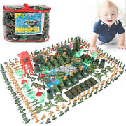Set Of 289 5cm Army Play Set And Soldiers Artillery Tank Ww 2 Army Base Toys