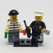 Authentic Lego Minifigure Prisoner And Cop Cty0217 Cty0218 City Town 3661 Police