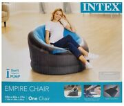 Intex Empire Inflatable Chair Blue 44inch X 43inch X 27inch