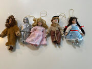 """Wizard Of Oz 5 Ornaments, Seymour Mann Storybook Tiny Tots 6"""" With Hanging Loops"""
