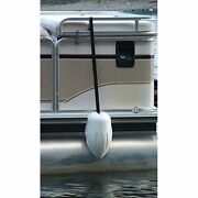 Pontoon Boat Fender Vinyl Securely Fence Railing For Boaters 9 X 16 Inch White