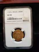 1749 L Brazil 2000 Reis Randeacuteis Ngc Au 58 Gold Coin One Yr Type -only One On Ebay
