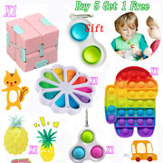 6pack Baby Simple Dimple Figet Toys Set Sensory Bundle Tools Stress Relief Kids