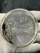 5oz Pure Silver .999 Chickasaw Oklahoma 2011 Quarter Dollar Large Coin Gift