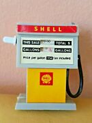 Vintage Shell Gas Petrol Pump Motorized Toy Germany Gdr Ddr 70's Press Gently