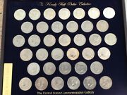 Andnbspjfk Half Dollars 37 Coin Collection In Wooden Case