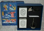 Diptyque Carousel Candles Set Holiday Limited Edition, Baies And Feu De Bois New